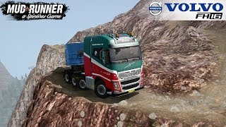 Spintires: MudRunner - VOLVO FH16 8X4 Driving on Extreme Mountain Roads