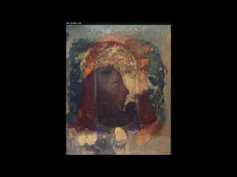 ODILON REDON 1840 1916 Symbolist Painter.  Music CLAUDE DEBUSSY Reflect dans L'eau