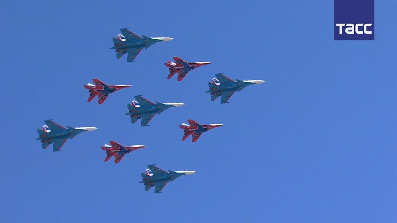 Авиация присоединилась к репетиции парада Победы