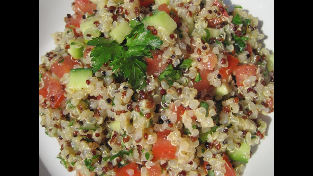 Tomatoes Cucumbers & Fresh Herbs  How To Make Quinoa Recipe