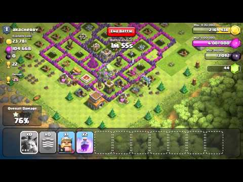 Clash Of Clans - 120 Minions (110 Lvl 3) VS. A MAX Town Hall 8!!!!!!!!!!!!!!!
