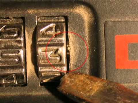 How To Find The Numbers To Open A Combination Padlock   Video Flv
