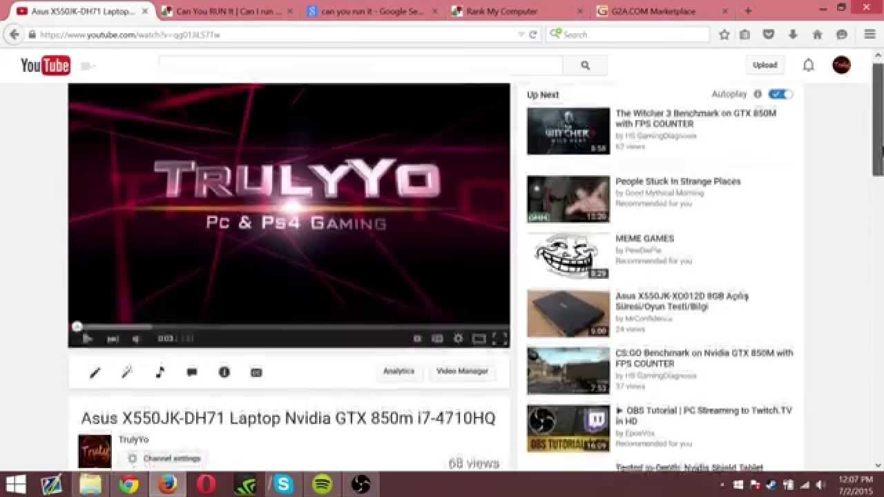 Asus X550jk Dh71 Laptop Q A Gaming Performance Display Youtube