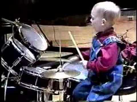 3 Year Old Drummer