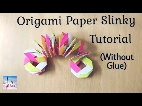 Origami Slinky Tutorial | DIY Paper Slinky (without glue) | Easy Paper Toy for Kids