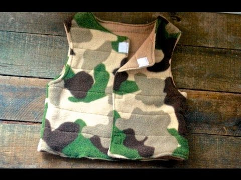 Sew a Kids\' Fleece Vest - YouTube