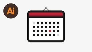 Learn How to Draw a Calendar Icon in Adobe Illustrator | Dansky