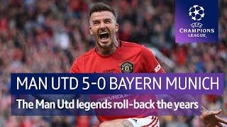 Man Utd Legends vs Bayern Munich Legends (5-0) | Treble Reunion Highlights