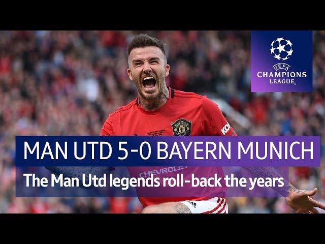 Man Utd Legends vs Bayern Munich Legends (5-0)   Treble Reunion Highlights