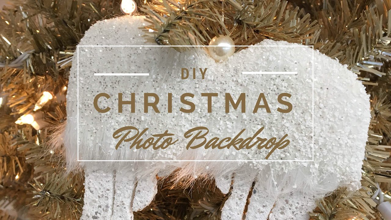 Diy Christmas Photo Backdrop How To Fluff A Christmas Tree Tutorial