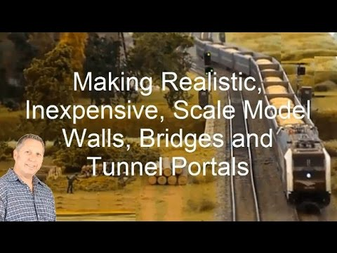Making Cheap Model Railroad Walls, Tunnel Portals, Bridges, and a Pedestrian Overpass