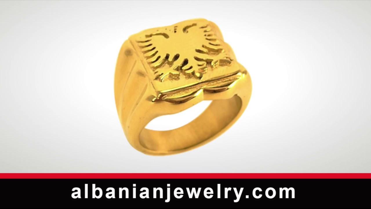 San Francisco prezzo più basso vestibilità classica Anello aquila bandiera albanese | Albanian Jewlery