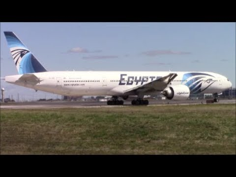 EgyptAir Boeing 777-36N(ER) [SU-GDP] Take Off from Toronto Pearson Airport on RWY 06L