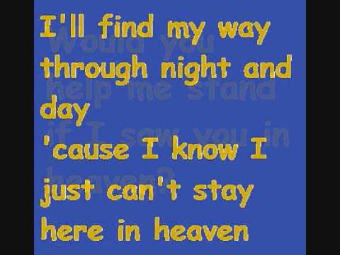 Eric Clapton - Tears In Heaven Original Lyrics
