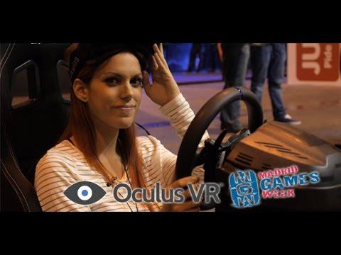 Oculus DK2 con Karen en Project Cars, Madrid Games Week 2014