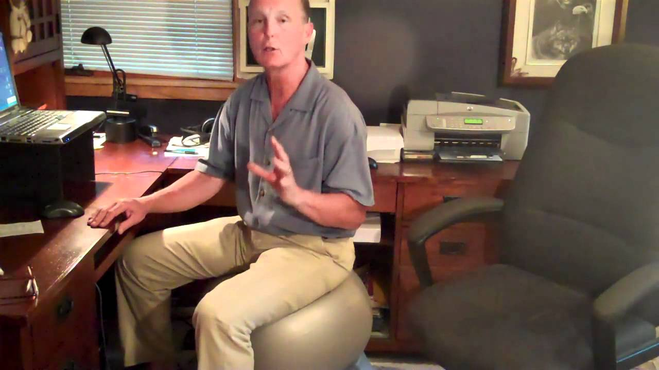 exercise ball used for a ball chair for health benefits youtube