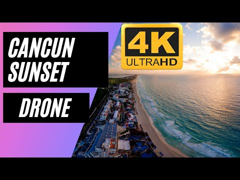 cancun-sunset-drone-4k-live-stream-|-travel-droner