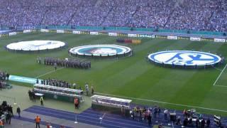 Schalke Duisburg Pokalfinale 2011 - Einlauf + Choreos