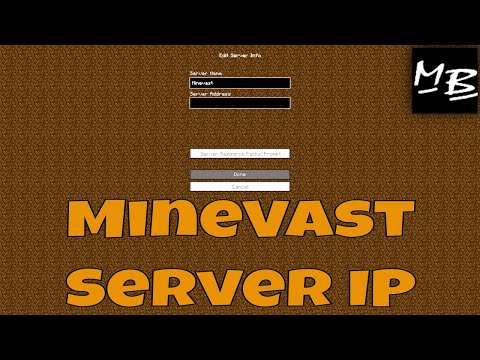 Minecraft MineVast Server IP Address