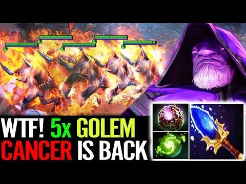WTF 5x Golems CANCER is BACK Bulldog Warlock Most Fun Dota 2 Gameplay