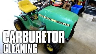 HOW-TO Carburetor Cleaning On John Deere 175 Tractor