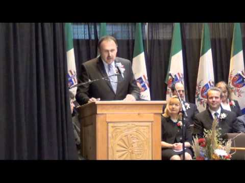 Address by Premier Pasloski