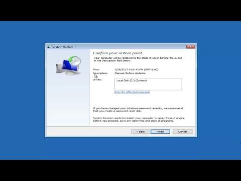 System Restore In Windows 10 COMPLETE Tutorial