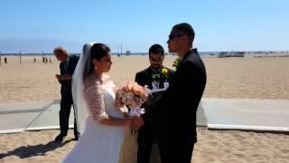 Santa Monica Beach Batman Themed Wedding