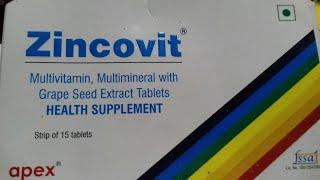 Zincovit Tablet | अपने पिचके गाल को फुलाए | और किसी तरह की कमजोरी को दूर करे | Use Hindi Review