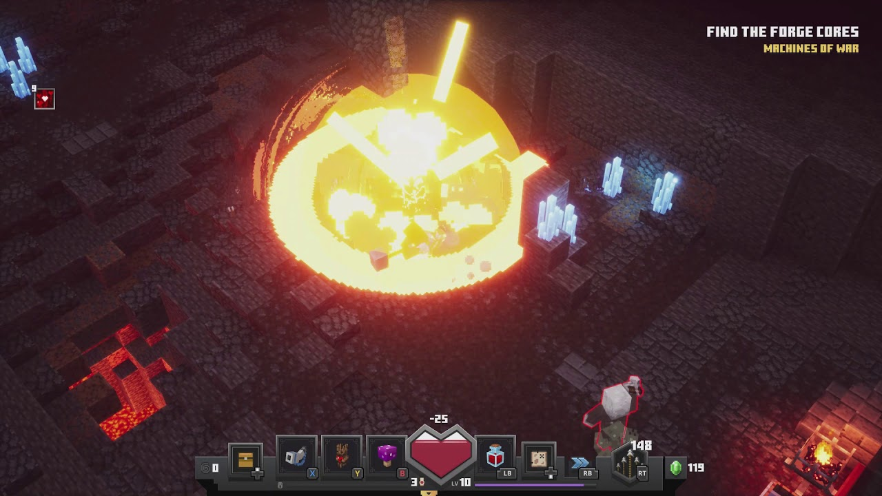 Minecraft Dungeons - Fiery Forge Machines of War: Enter The Forge & Find  The Cores Golem Fight 12