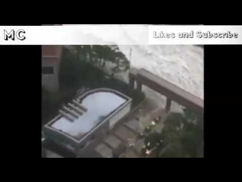 Scariest Typhoon in KOREA it cause Tsunami