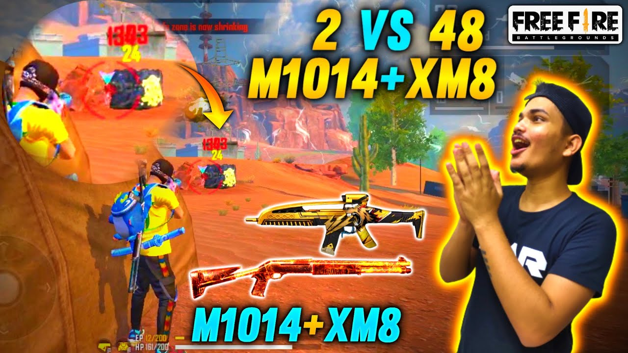 FREE FIRE RANK MATCH || DUO VS SQUAD ON HEROIC - 17 KILLS MATCH || TWO SIDE GAMERS