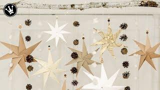 DIY - Weihnachtsdeko selber machen   Origami Stern Faltanleitung   Fensterdeko Weihnachten   How to