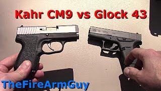 kahr cm9 vs glock 43 range review thefirearmguy