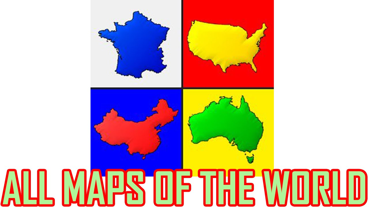 all maps of the world quiz 1 all answers walkthrough by andrey solovyev
