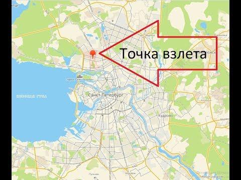 Метро Комендантский проспект 08.12.2018 с высоты птичьего полета