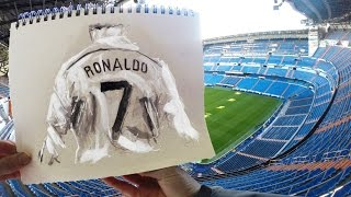 Cristiano Ronaldo - Sketchbook Animation by Richard Swarbrick