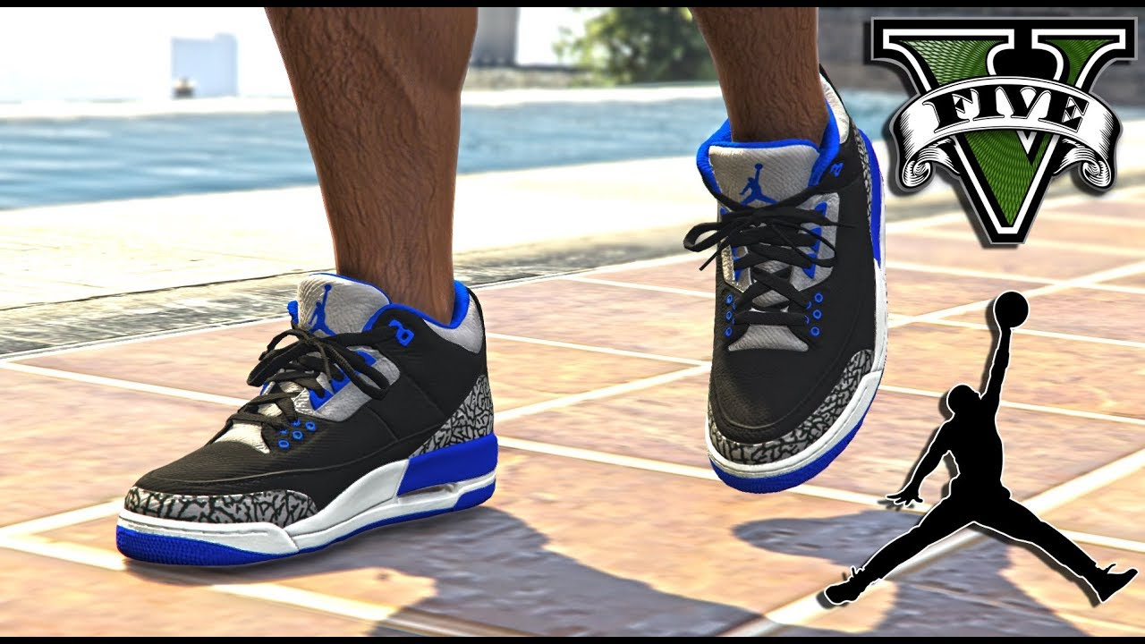 GRAND THEFT AUTO V | AIR JORDAN 3 MOD. GTA BMORE