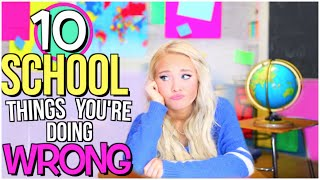 10 School Things You're Doing WRONG & School Life Hacks!