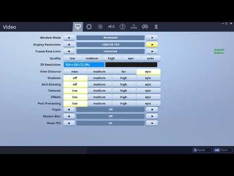 fortnite display resolution text block