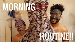COUPLE'S MORNING ROUTINE