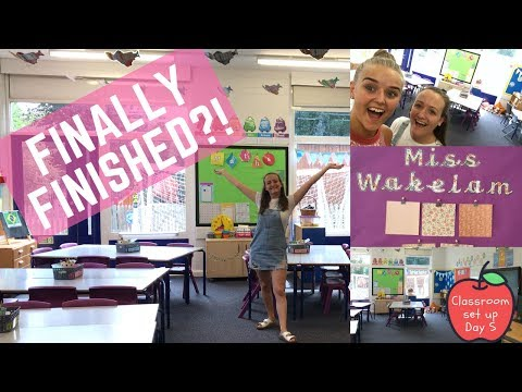 Primary Classroom Set Up - Day 5