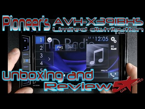 Pioneers New AVH X391BHS Limited distribution radio unboxing review