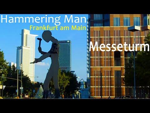 Frankfurt Main Hammering man, Frankfurt  Messeturm Messe HD, German Messe Frankfurt Trade Fair