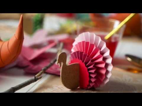 Silhouette Snippet: Pleated Paper Turkeys