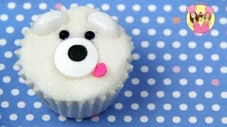 POLAR BEAR MINI CUPCAKE - Decorate Cute Mini Cupcakes - Kids Cake Decorating