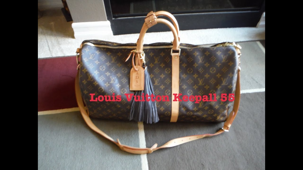 louis vuitton keepall 55 bandouliere review fabulosity. Black Bedroom Furniture Sets. Home Design Ideas