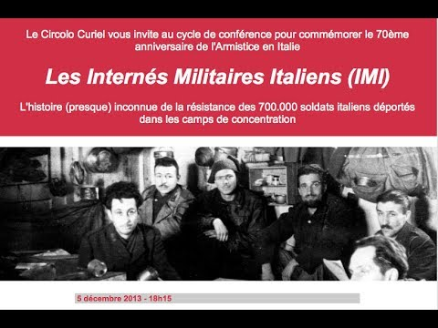 "Conference ""Gli Internati Militari Italiani, 1943-1945"""