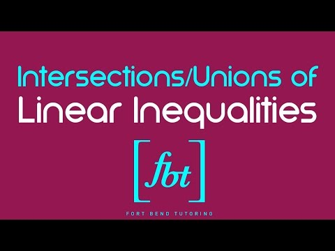 Graphing the Intersection and Union of Linear Inequalities (Systems of Linear Inequalities) [fbt]