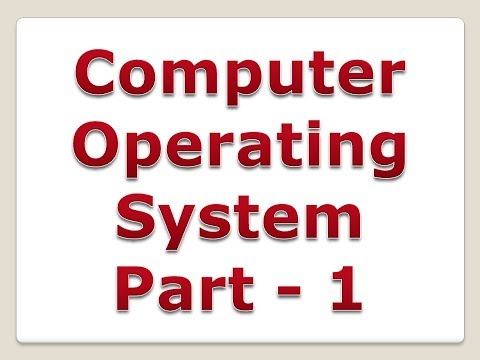 Operating System in Hindi   Part 1